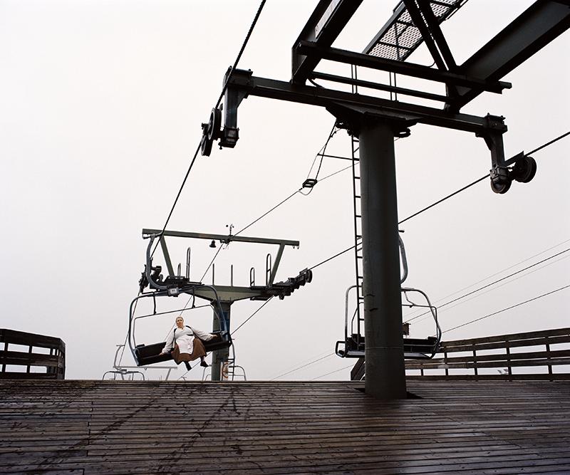 Sirpa Päivinen: Ski lift, Vuokatti slopes, Sotkamo, 2015